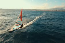 AERIAL – DRONE WINDSURFING VIDEO IN ARTEMIDA, GREECE