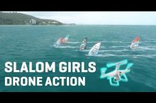 SLALOM GIRLS DRONE ACTION