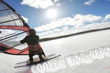 COOLER WINDSURFING ON ICE