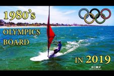 OLD SCHOOL OLYMPIC WINDSURF BOARD 1980S