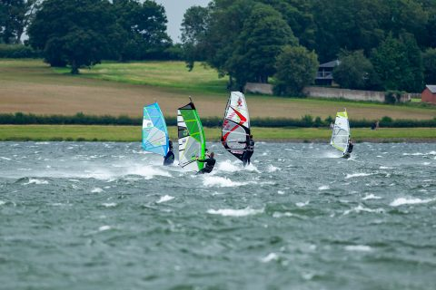 Click to Enlarge - Rutland locals enjoying a windy day.  Photo Andy Balmford Photography.