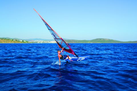 Esteban on the foil in Bodrum  - Click to Enlarge