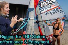 RIGGING AND FINE TUNE SLALOM RACE SAILS : KARO VAN TONDER