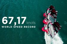 TRIDEM SMASHES WINDSURFING RECORD – 67.17 KNOTS