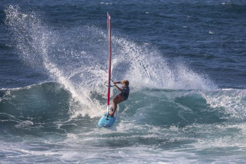 Sarah on her way to victory in Hawaii!