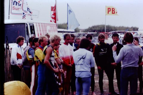 The windsurf scene at Wittering back in the day!