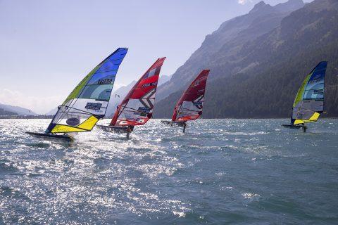 Racing in Lake Silvaplana