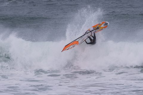 Andrew hitting the lip at Gwithian