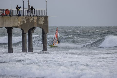 James Cox dicing with Boscombe pier