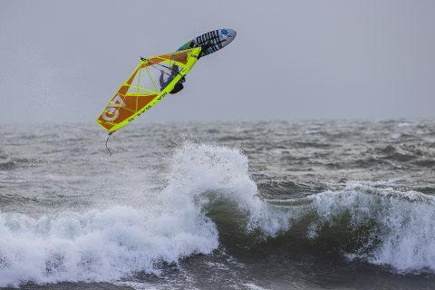 Jamie Hancock takes off
