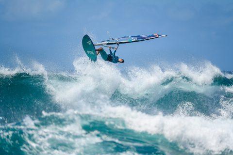Victor Fernandez flying in Maui