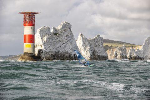 Tom Buggy cruising past the Needles!