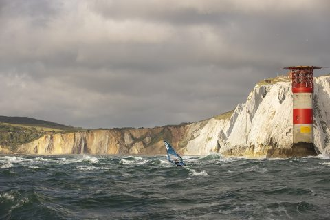 Rough seas off the Isle of Wight