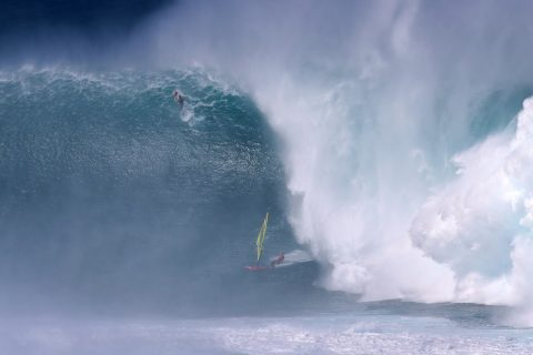 Adam Warchol about to endure one of the biggest wipe outs ever!