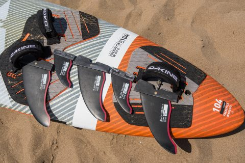 Small single fin, and then a thruster set with 2 rear fin options gives you lots of range on a tri fin FSW.