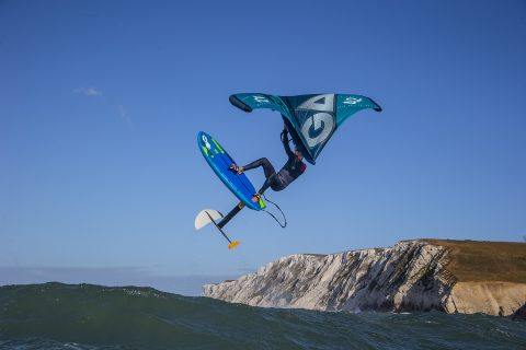 Wing foiling at Freshwater