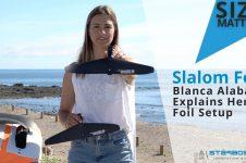 BLANCA ALABAU SLALOM FOIL SET UP