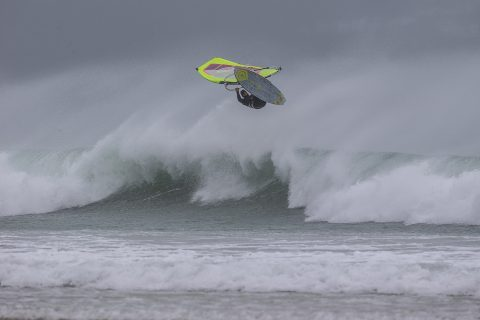 Andy King hitting the lip in Cornwall