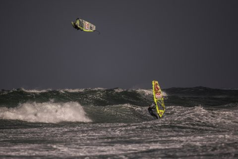 Ricardo Campello of Venezuela performs at the Red Bull Storm Chase in Magheroarty, Ireland on March 10, 2019. // Sebastian Marko/Red Bull Content Pool